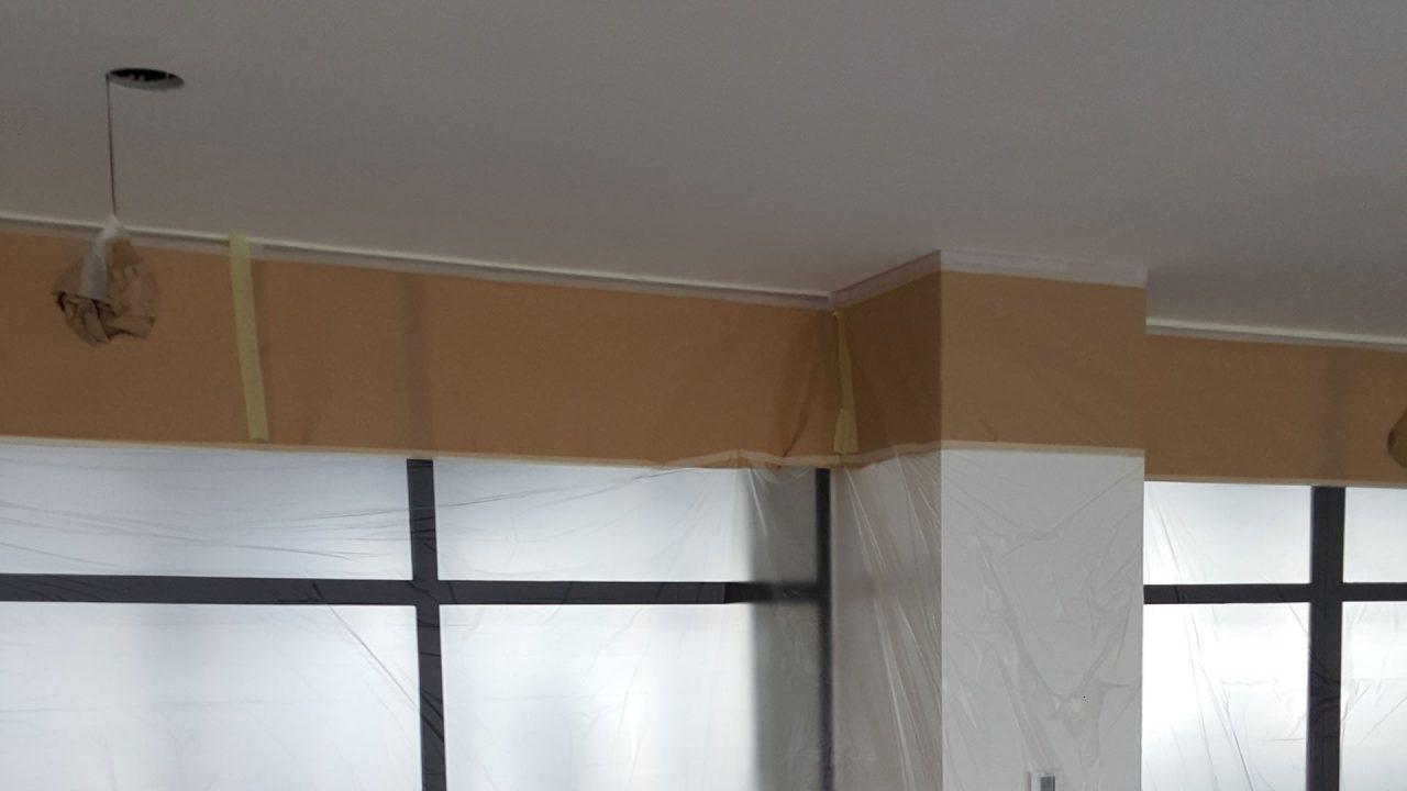 spuitconcurrent-plafond-afplakken